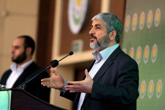 FILE PHOTO: Hamas Leader Khaled Meshaal addresses the 8th General Conference of Sudanese Islamic Movement in Khartoum November 15, 2012. REUTERS/Mohamed Nureldin Abdallah/File Photo