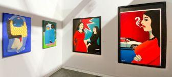 installation view. Art Paris 2021.Françoise Livinec.