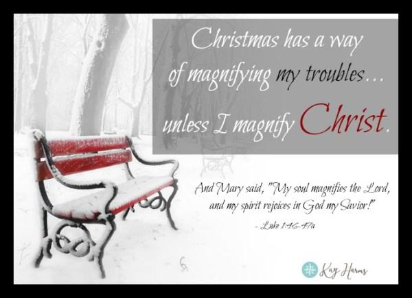 This Christmas Magnify Christ