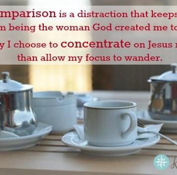 Don't Compare; Concentrate - graphic