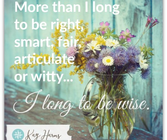 I Long to Be Wise - Image