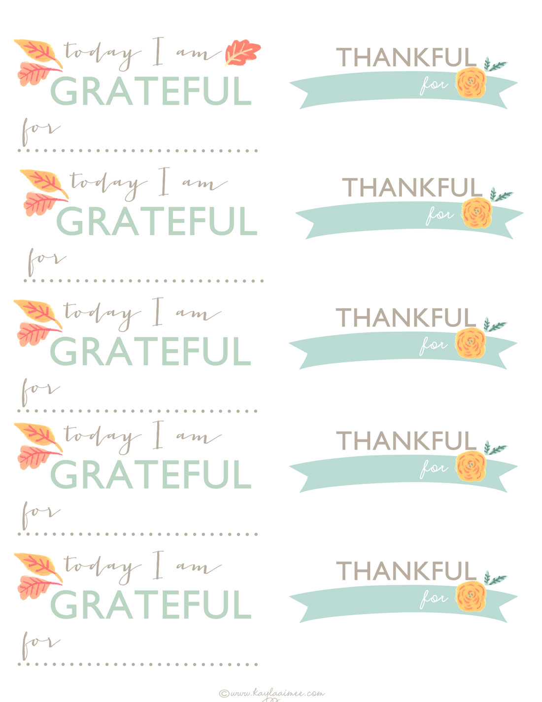 Thanksgiving Day Cards To Print