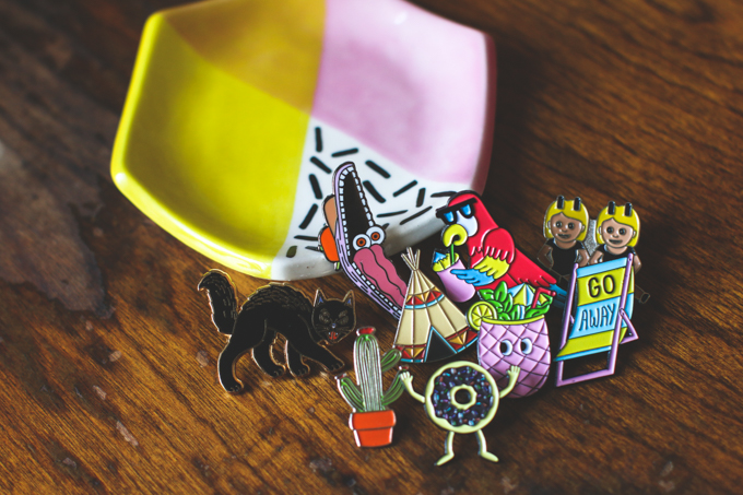valley cruise press, lapel pins,