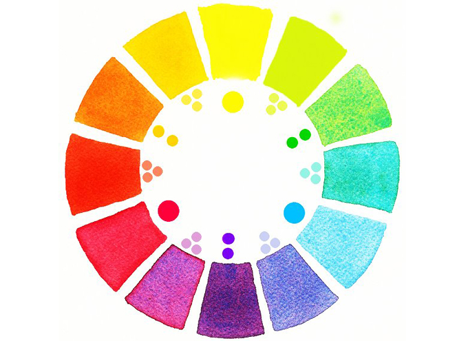 2 tips for switching hair color easily the dainty squid watercolor color wheel by mara mattia urmus Choice Image