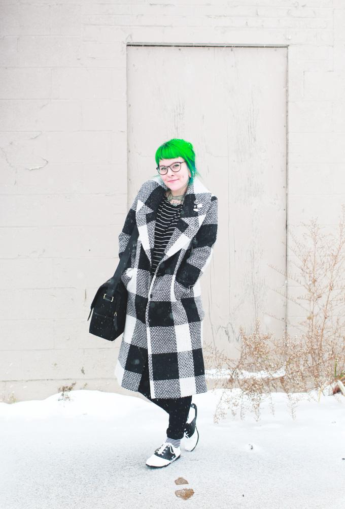 kaylah doolan, the dainty squid, green hair, saddle shoes