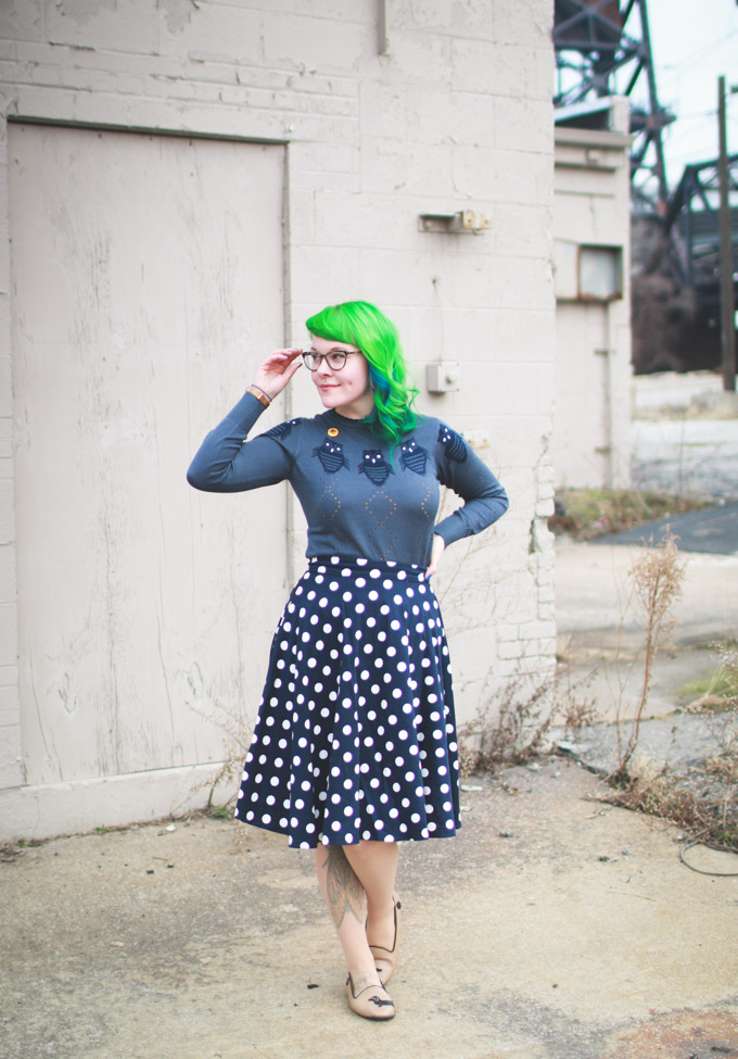 green hair, cleveland, fashion blog, what I wore