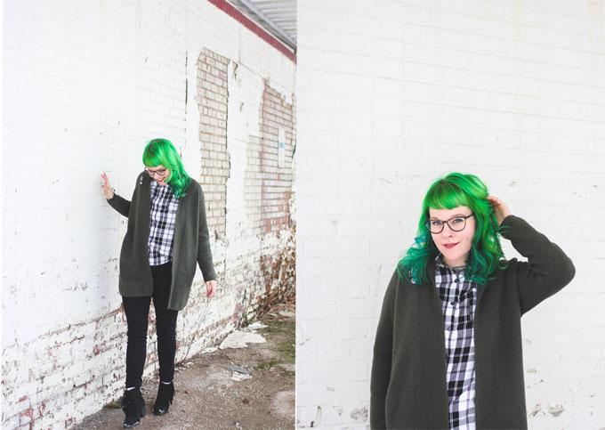 kaylah doolan, green hair