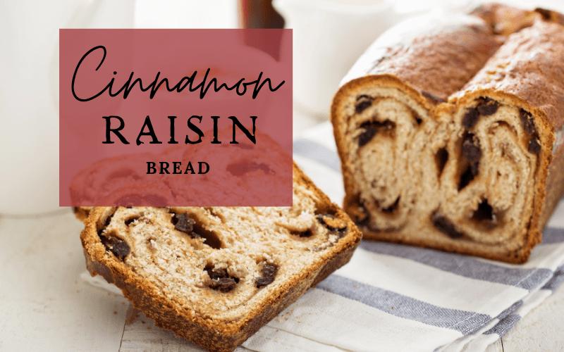 Spelt Cinnamon Raisin Bread