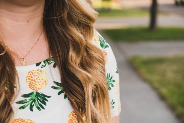 choose joy in a pineapple pocket dress