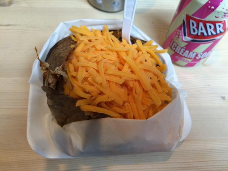 The Baked Potato Shop is one of the many things to do in Edinburgh