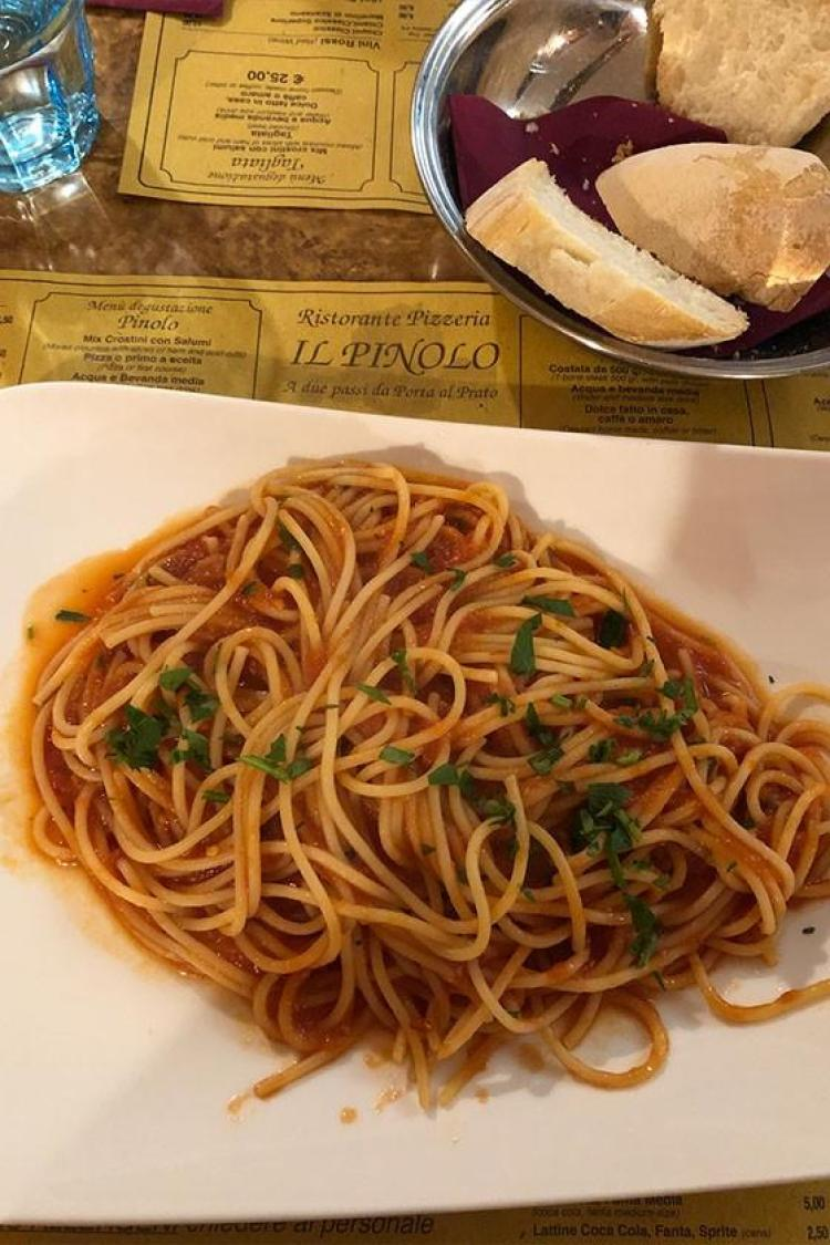 spaghetti in florence italy