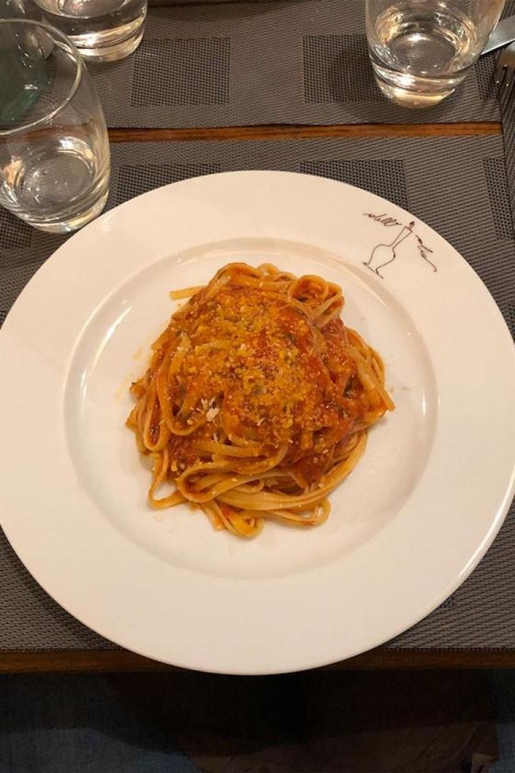 pasta arrabbiata in florence italy