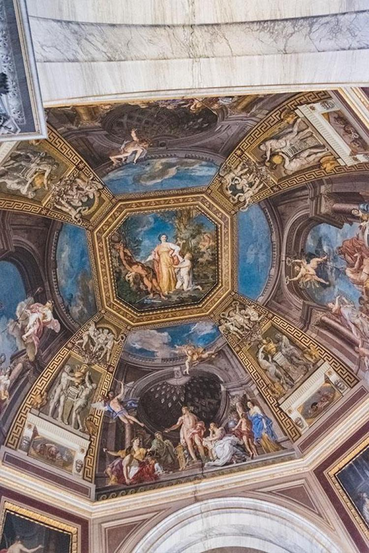 ceiling in the vatican in rome italy
