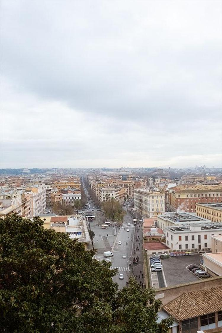 view from the vatican in rome italy