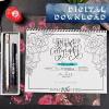Level Up Brush Minuscules Calligraphy Workbook Digital Download
