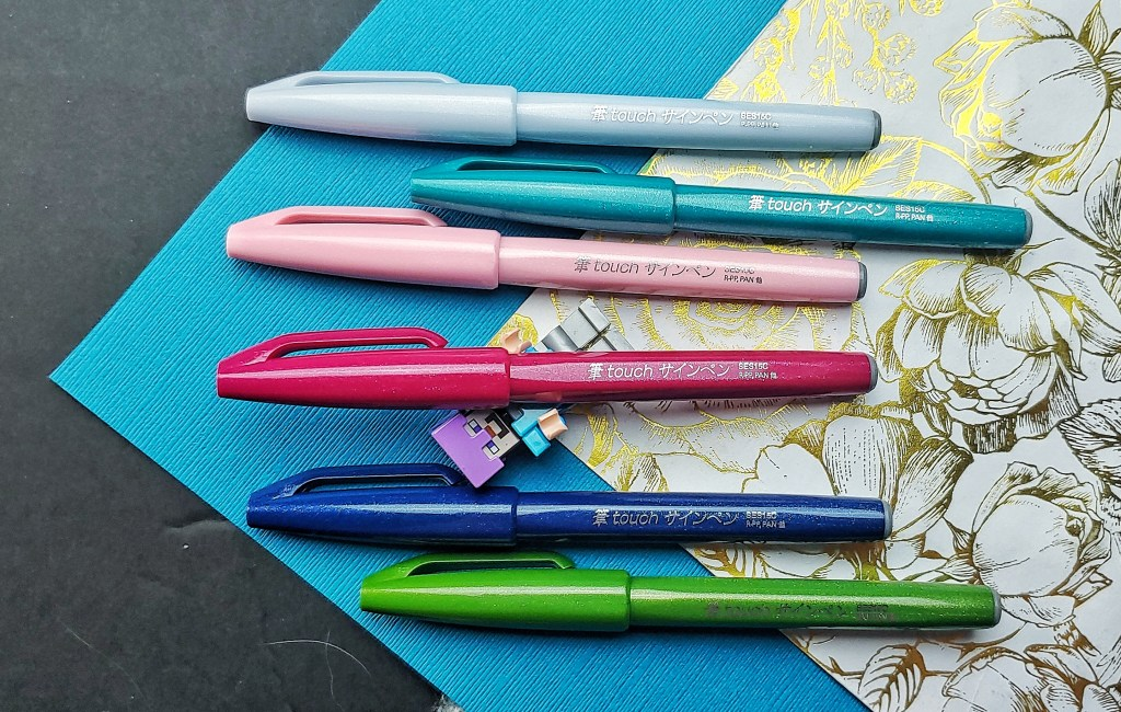 Pentel Fude Touch Sign Pen New Colors with Steve