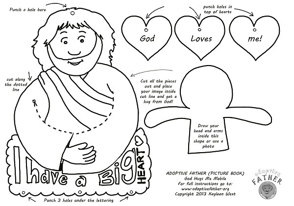 - Free Colouring Printables - Jesus Hugs Me Mobile.