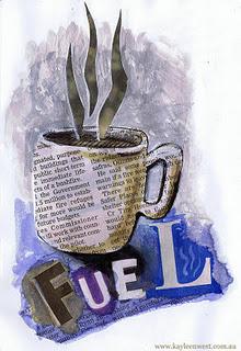 Editorial illustration from Sketchbook - Fuel