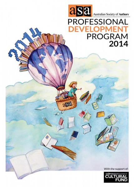 Cover illustration of ASA Professional Development Program 2014 by Kayleen West. Full sheet watercolour.