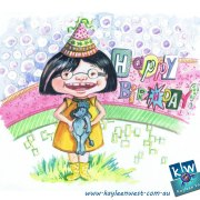 Watercolour illustration for #illo52weeks illustration challenge - Pattern Happy Birthday card