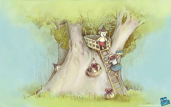 Hide 'n ' seek - Children's illustration