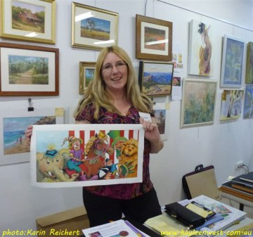 Talking the business of children's book illustration with Ringwood Art Society.