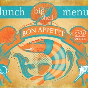 restaurant menu design cover. Seafood Restaurant Lunch Menu