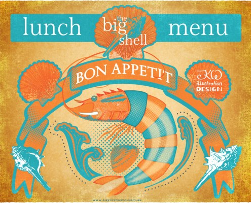 restaurant menu design cover. Seafood Restaurant Lunch Menu