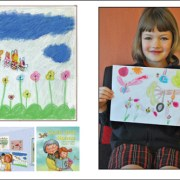 Children's drawings for picture book Celia and Nonna. Grace and Nikkisha.