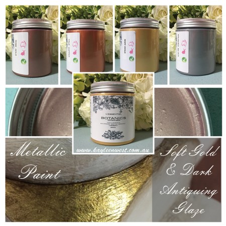 Botanics Metallic Paint Soft Gold Brushed Silver True Copper Rose Gold