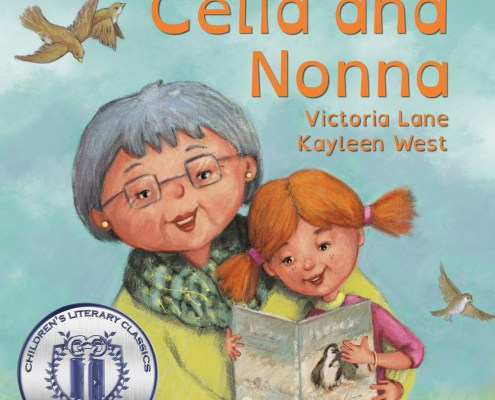 Celia and Nonna. Picture books using Open Dyslexic font