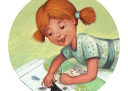 Celia and Nonna. Children's Book Illustration by Kayleen West