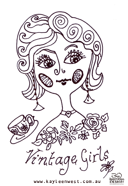 INKtober 2014. An inked sketch each day for the month of October. Vintage design inked for a surface design illustration. #inktober