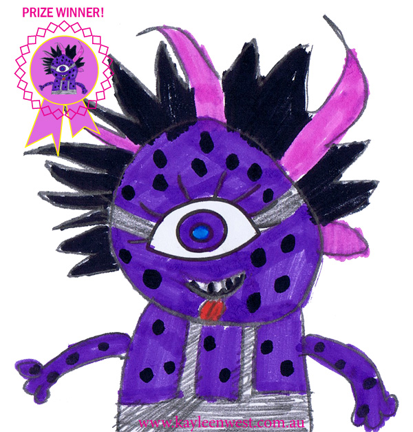 School drawing competition. Eye and imagination winning drawing by Grade 2/3 student Samantha Daly Monbulk Primary School