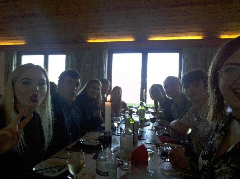 Formal dinner: Alice, Ian our country rep, Ella, Tom, Joelle, Dan, Caleb, Matt, Me