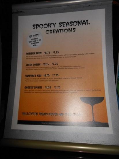 Special drink menu