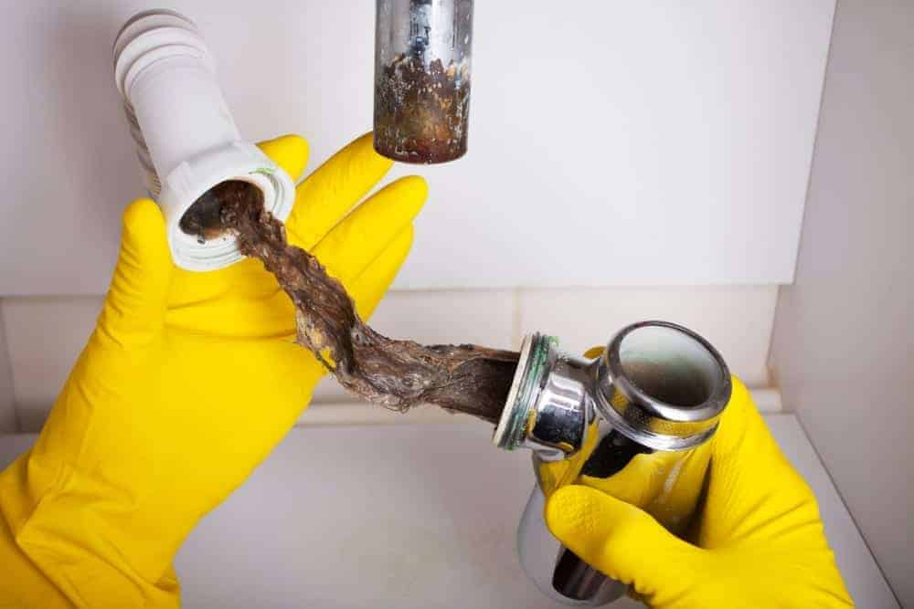 troubleshooting a clogged sewer line