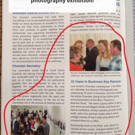 Kay Ransom Photography featured in Cirencester Scene magazine An article on my 10 ye