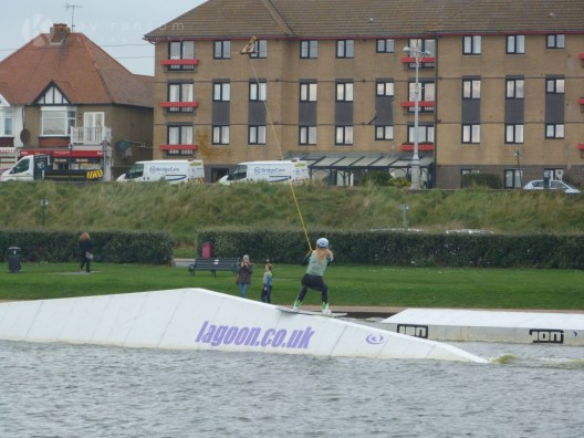 Competing in amateur wakeboarding