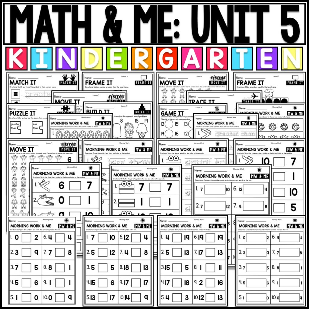 Comparing Numbers In Kindergarten Math Kayse Morris