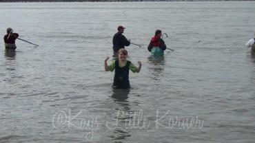 Bekah wading in