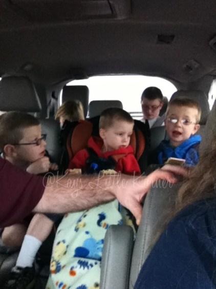 Van full of kids