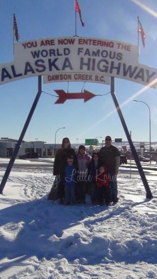 Mile '0' of the Alaska Hwy