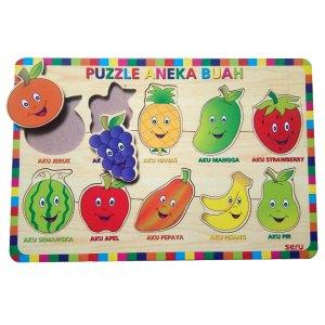 Puzzle Buah Seru - Puzzle Aneka Buah Kayu Seru