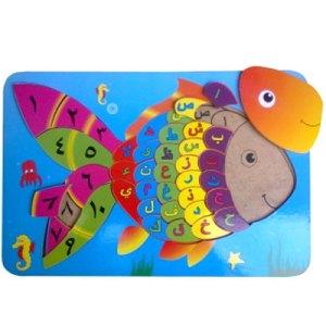 hijaiyah ikan - Membuat Balok Susun Kubus Warna Pesanan Custom