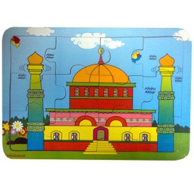 masjid - [Best Seller] Aneka Puzzle Dapat 3 Pcs