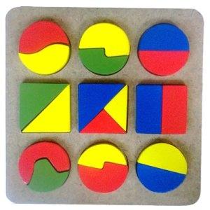 puzzle geometri - Puzzle Pecahan Cat
