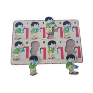 puzzle wudhu - Puzzle Wudhu Laki-laki Stiker