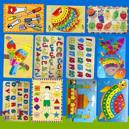 aneka puzzle - [Best Seller] Aneka Puzzle Dapat 3 Pcs