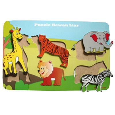 Puzzle Hewan Liar - [Best Seller] Aneka Puzzle Dapat 3 Pcs